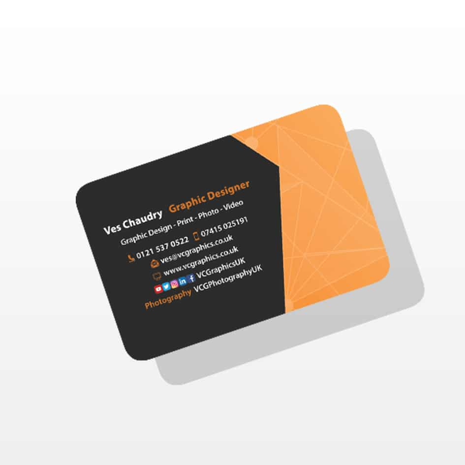 Business cards rounded vc graphics uk business cards reheart Image collections